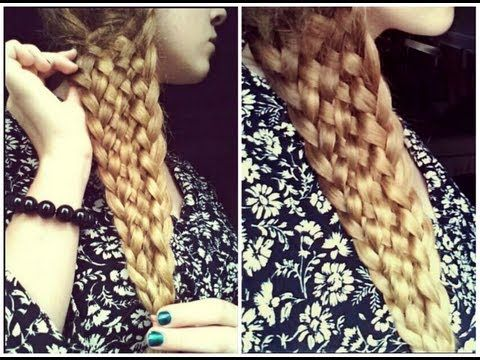 Easy Eleven Strand Braid with NO BOBBY PINS! Tutorial - YouTube