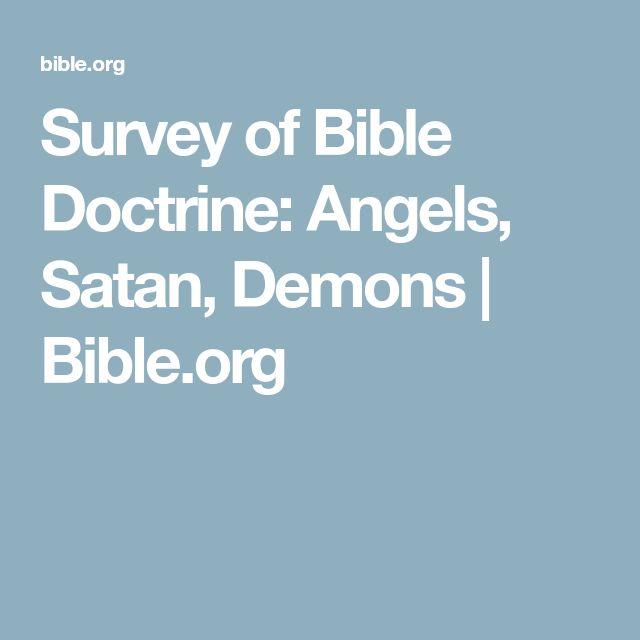 Survey of Bible Doctrine: Angels, Satan, Demons | Bible.org