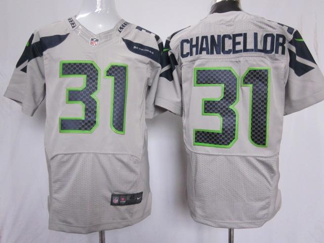 Kam Chancellor Grey Jersey, Seattle Seahawks #31 Elite Nike NFL Jersey    $23