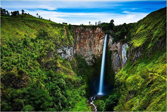 Sipiso-Piso Waterfall, North Sumatra, Indonesia