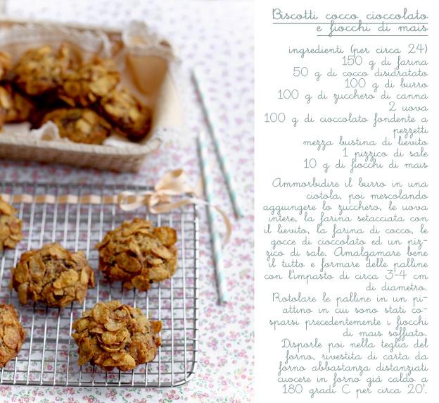 biscotti cocco cioccolato fiocchi di mais by vanigliacooking