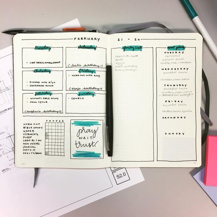 Bullet Journal • 10 Ideen für deine Weekly Layouts