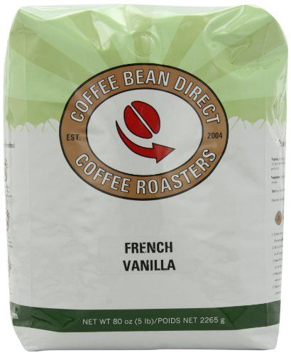 Coffee Bean Direct French Vanilla Flavored Whole Bean Coffee 5Pound Bag >>> You can find more details by visiting the image link.