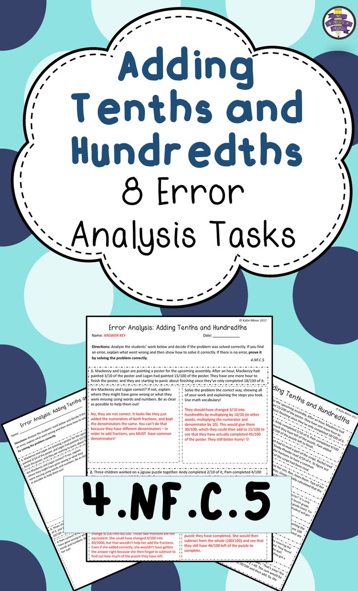 Do Your Students Struggle With Adding Fractions That Are In Tenths And  Hundredths? Check Out