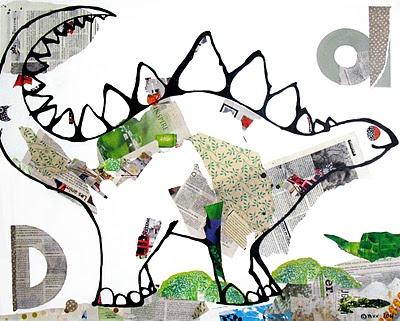 Thema dinosaurus: illustratie