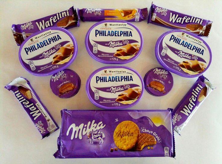 Милкамания Сыр Philadelphia Milka 429 Milka Choco Grain 190 Вафля Milka Wafelini 59 Вафля Milka Choco Wafer 50 Шоколадный батончик Milka Toffee 69