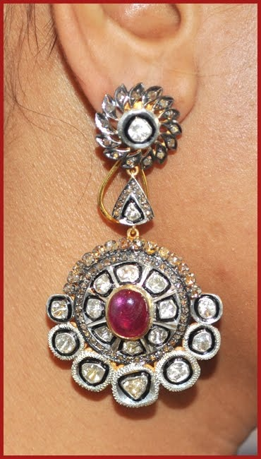 """Signature Victorian Collection....known for its international taste and appeal!    """"Chloe""""...only $2,200 or P96,800!!  14.21c ROSE/UNCUT DIAMOND RUBY 14k GOLD VICTORIAN LOOK DANGLE/EARRING/CHANDELIER! Imported, world-class quality, not pre-owned, not pawned, not stolen. WE DELIVER WORLDWIDE ♥"""