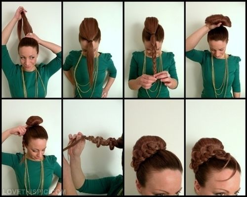160 best hair images on pinterest hair colors braided updo and diy ponytail hair diy diy ideas do it yourself diy hair diy tips diy images do solutioingenieria Image collections