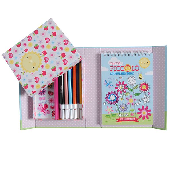 Piccolo Colouring Set - Little Girls' Favourites #limetreekids