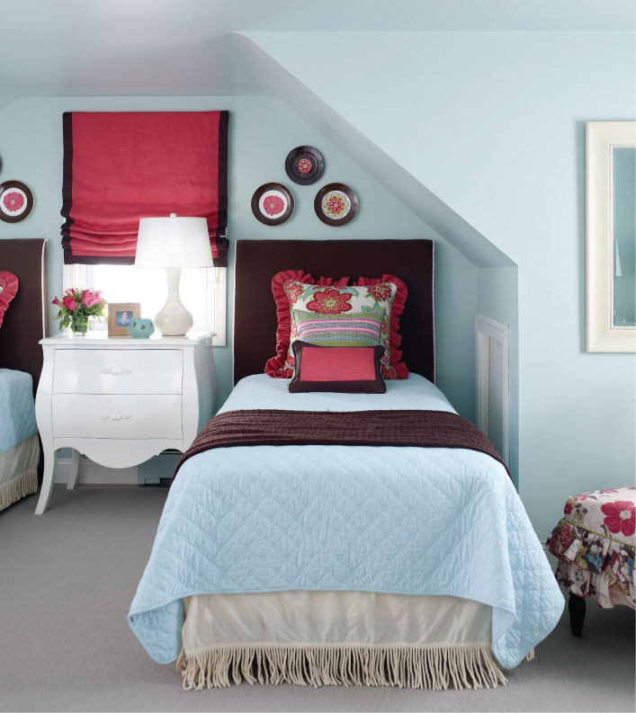 Benjamin Moore Bird's Egg Blue - the perfect blue for a bedroom or bath.  2051-60.
