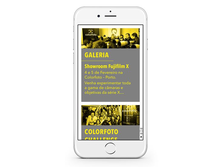 """CONTEÚDOS – News / Megastore / Events – The best of the photographic world in a """"tap"""" ... (Sample some spreads)."""