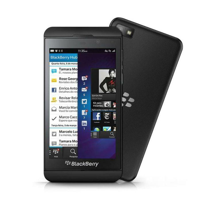 """Smartphone Desbloqueado Blackberry Z10 Tela 4.2"""" 4G Preto Blackberry - Smartphones no Extra.com.br"""