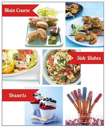July 4th Menu #sandwiches #dessert #sidedish