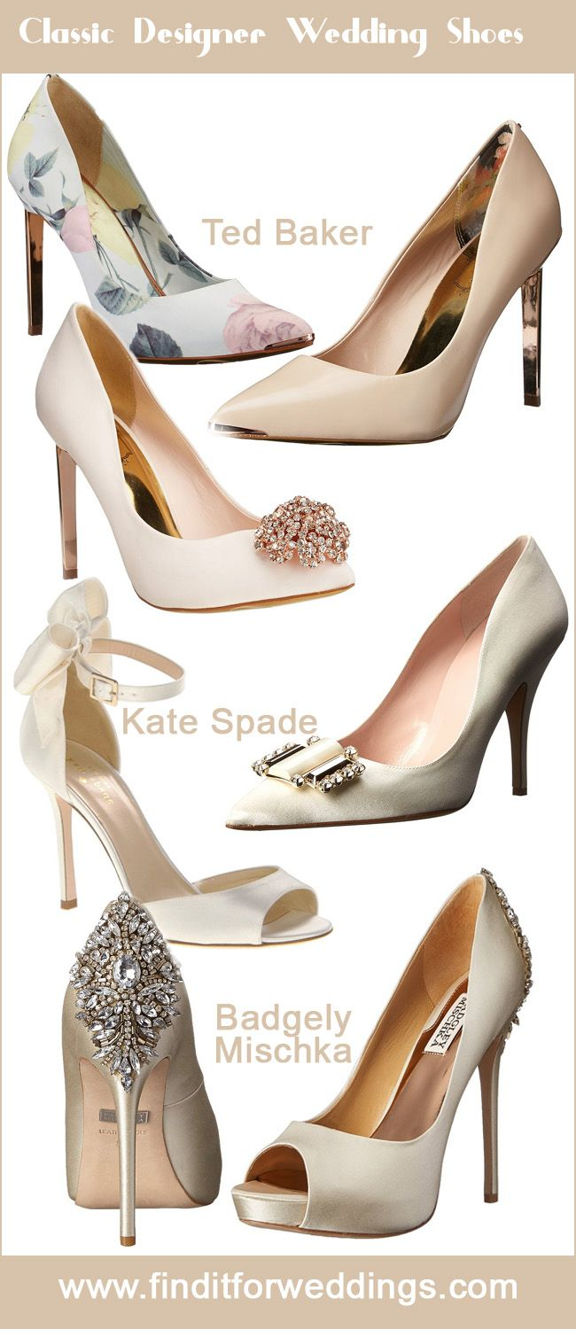 Ted Baker Kate Spade And Badgley Mischka Classic Wedding Shoes Finditforweddings