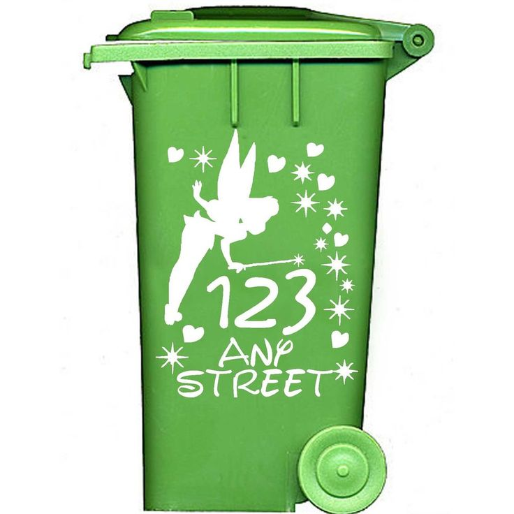 Wheelie Bin Numbers Stickers Personalised Disney Tinkerbell House  Tink  x5 in Home, Furniture & DIY, Home Decor, Wall Decals & Stickers | eBay!