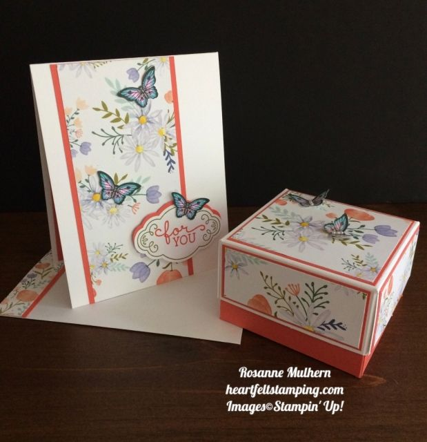 Stampin Up Delightful Daisies Card and Box Gift Set - Rosanne Mulhern