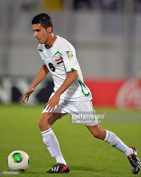 Bashar Resan of Iraq in action during the FIFA U17 World Cup group F match between Iraq and Sweden at Khalifa Bin Zayed Stadium on October 19 2013 in...