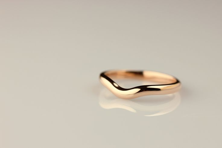 Laura Bezant Jewellery - ENGAGE  Soft curve wedding band, in 18ct rose gold....