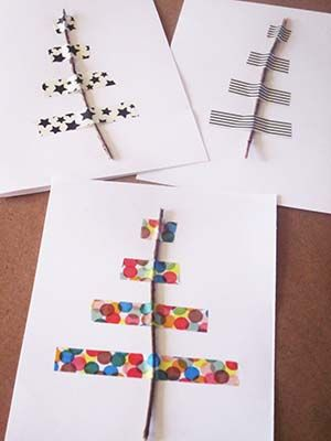 DIY xmas trees cards