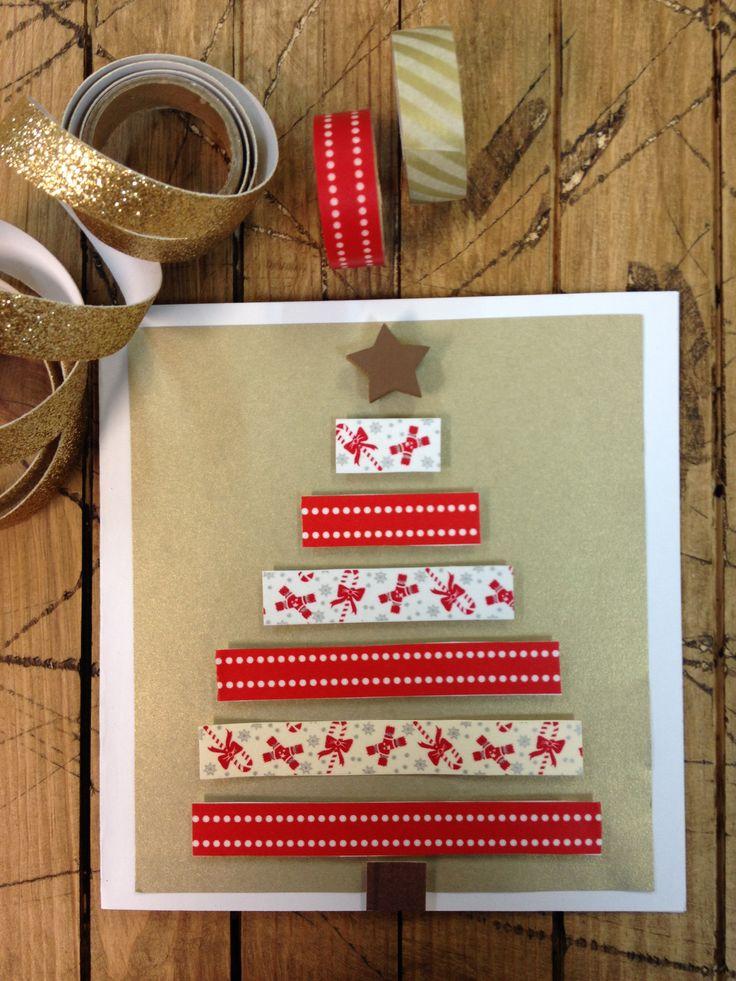 tarjeta de navidad con washitape tarjetas de navidad para