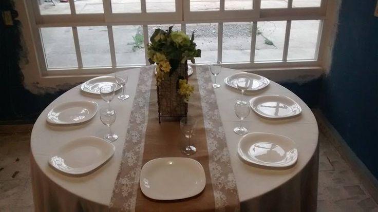 camino de mesa para bodas vintage