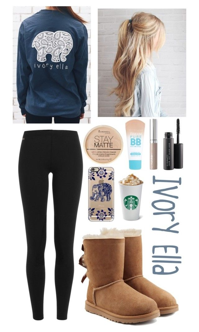 """Ivory Ella"" by foreverunicorn15 on Polyvore featuring Polo Ralph Lauren, COVERGIRL, MAC Cosmetics, Maybelline, Rimmel, UGG and Casetify"