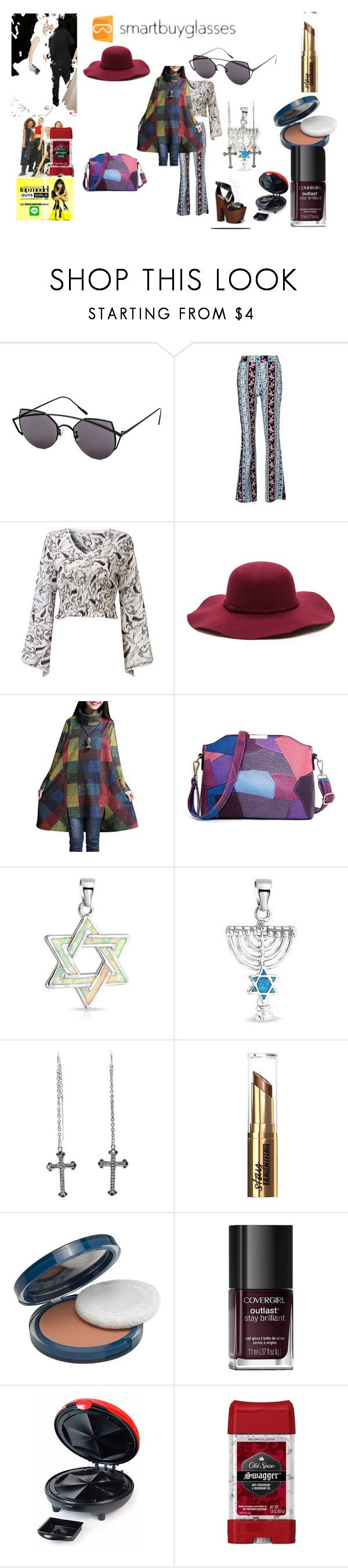 """""""Smartbuyglasses Contest"""" by naomig-dix ❤ liked on Polyvore featuring Gentle Monster, Bling Jewelry, King Baby Studio, COVERGIRL, Nemesis, Nostalgia Electrics, Vanity Fair, Old Spice, sunglasses and smartbuyglasses"""