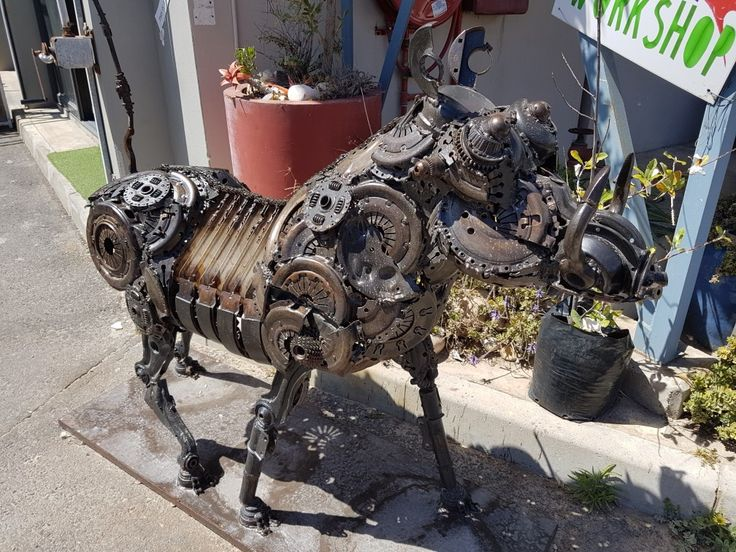 Steampunk-inspired warthog in Hout Bay