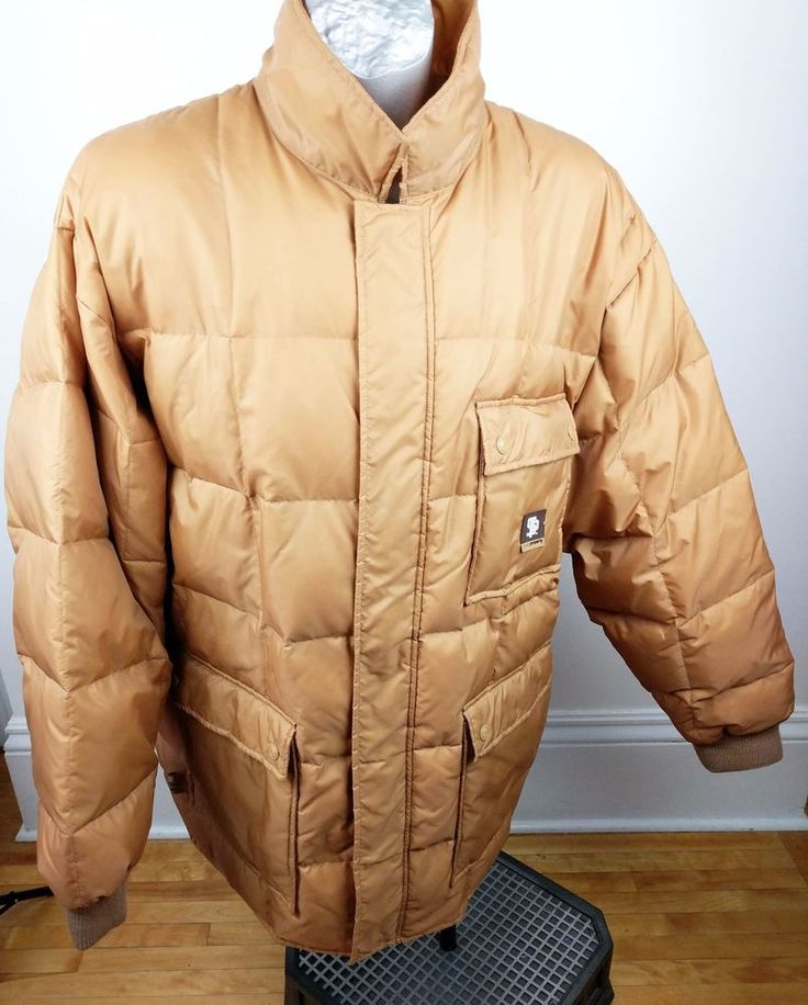 Rocawear Down Men Puffer Ski Jacket 2XL Winter State Property Gold Brown Big Man #Bocawear #Ski