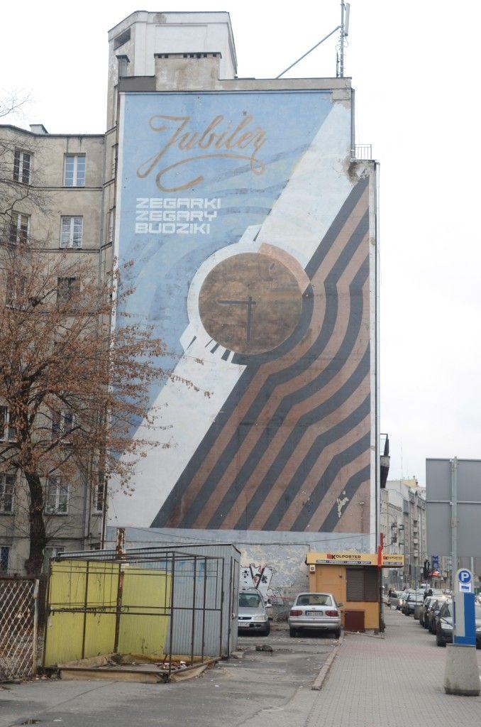 PRL mural, Targowa, Warszawa, Poland (photo: Jarek Zuzga)