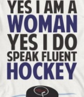 hockey woman Go Leafs!
