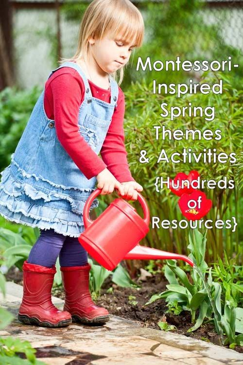 Hundreds of resources for Montessori-inspired spring themes and activities for home or classroom!