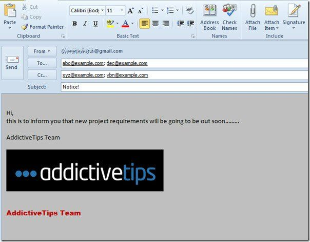 Create Use Email Templates In Outlook 2010 Create Email Create Email Template Email Templates