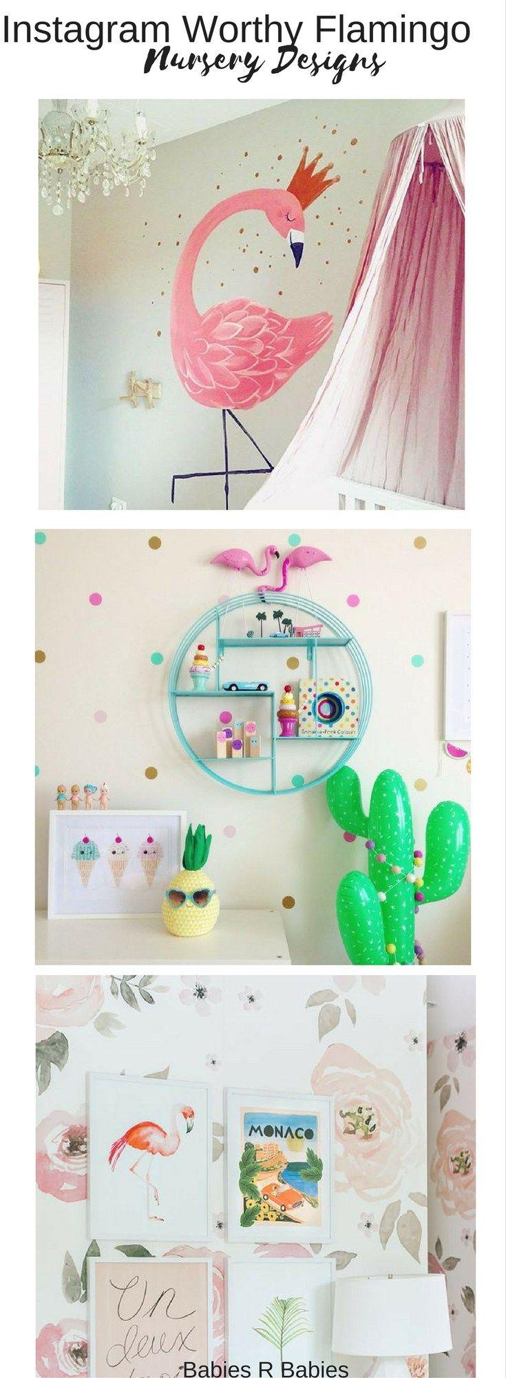 Baby flamingo car interior design - 11 Instagram Worthy Flamingo Nursery Designs