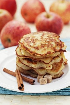 Harvest Apple Spice Pancakes with healthy pancake recipe.