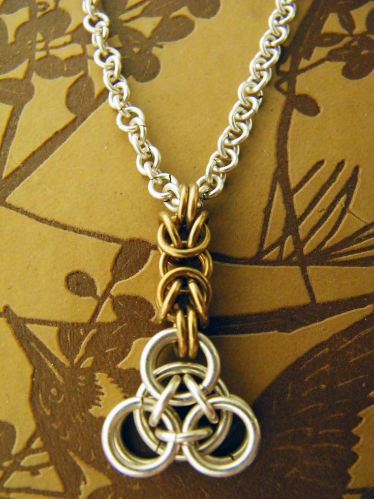 Silver Pyramid Chain Necklace, via Etsy.