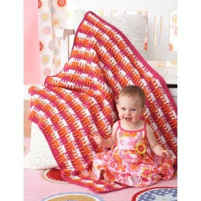 Bright Textures Blanket - free crochet pattern at www.yarnspirations.com