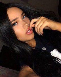 beauty, black, blue eyes, brunette, cute