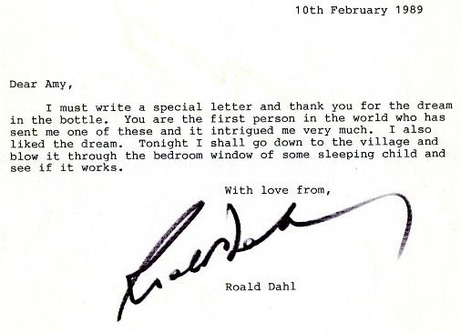 29 best roald dahl images on pinterest roald dahl literature and heres a letter from roald dahl to a young fan who sent him a fandeluxe Image collections