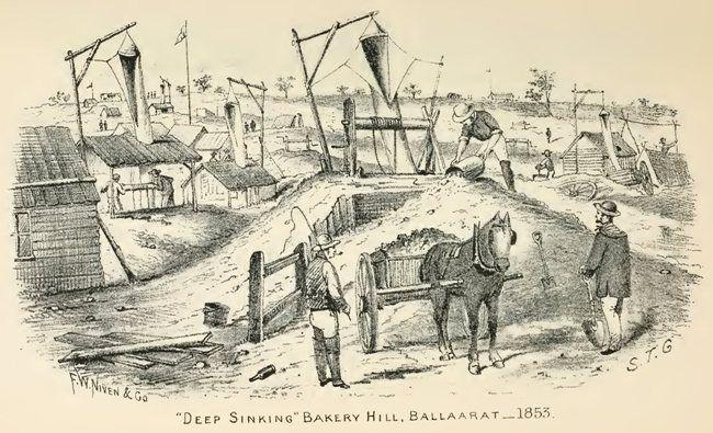 """Deep Sinking"" Bakery Hill, Ballaarat—1853."