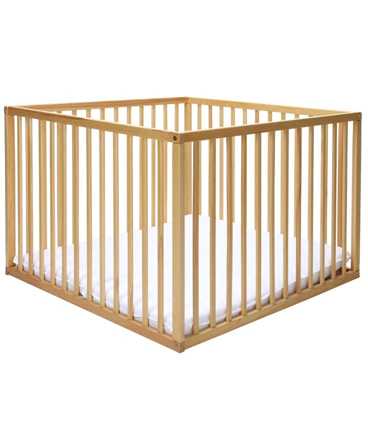 Old school wooden playpen - but new! I'd like it to have feet, so they're a tiny bit off the nasty floor