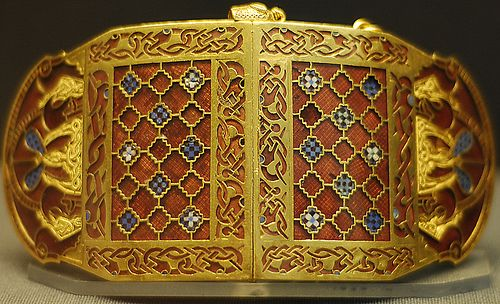Part of the treasure found at the Anglo-Saxon ship burial site and now on display at the British Museum. Sutton Hoo Treasure by david.ian.roberts, via Flickr