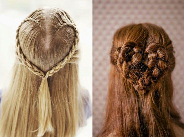 Lindos peinados de corazon ♡