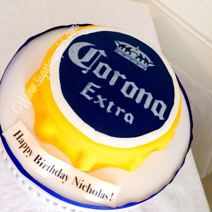 Beer cap cake, corona cake . IG @sugarcuppies for more inspiration