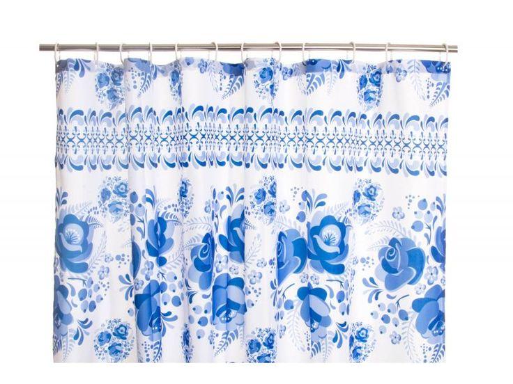 #cortinas para #baño de tela azul https://www.catayhome.es/categoria/cortinas-de-bano/