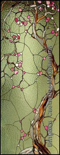 Витраж flora-037 * branch detail