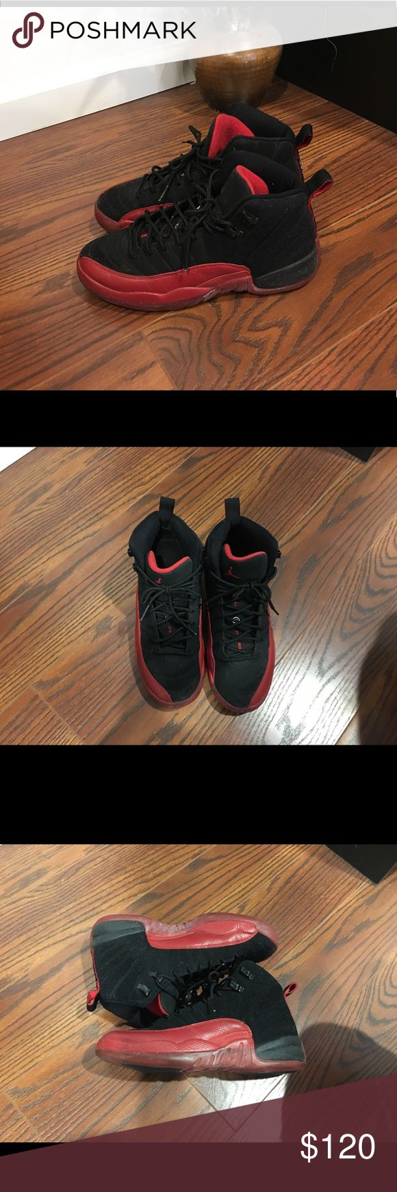 Michael Jordan kids size 6.5 red and black 12's Michael Jordan kids size 6.5 red and black 12's vintage style in really good condition!!' Jordan Shoes Sneakers