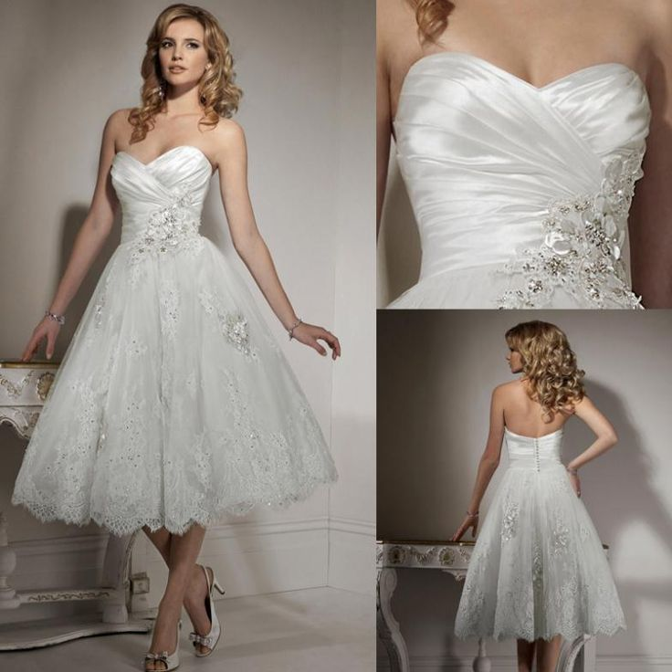 Free Shipping Custom Made Short Wedding Dress For Bridal Wear Lace Plus Size Gown Princess