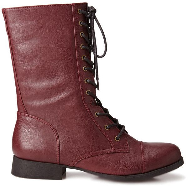 brown combat boots cut...