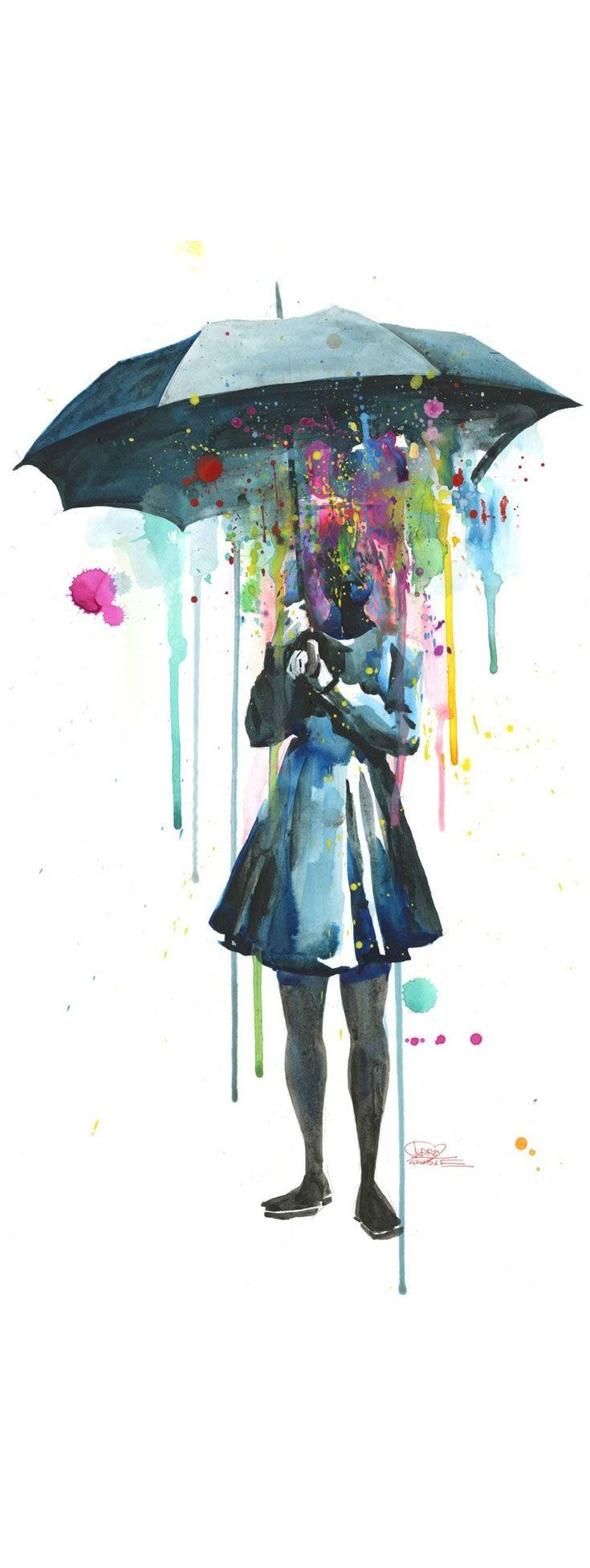 'Rainy' by Lora Zombie - Fine Art Prints available in a variety of formats at Eyes On Walls - http://www.eyesonwalls.com/collections/all/rainy?utm_source=pinterest&utm_medium=ads&utm_content=Rainy&utm_campaign=Lora%20Zombie
